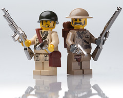 Chrome WW2 Allies (~Ghost Soldier~) Tags: soldier chrome american ww2 british allies brickarms