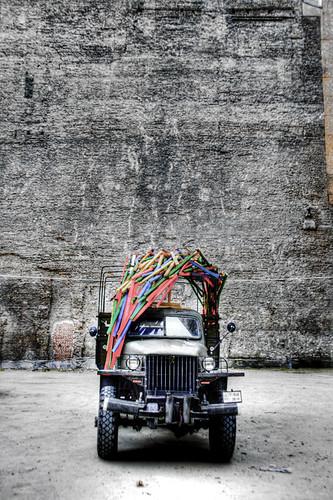The colors truck. Budapest. El camión de los colores.