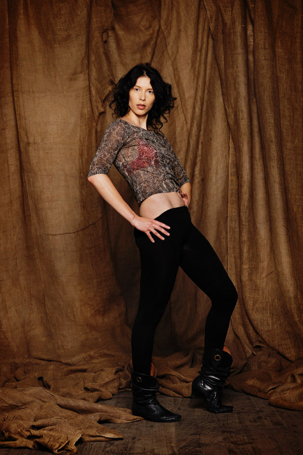 Sydney model Portfolio Photography, Full Length Fashion Shot, Studio Test Marina