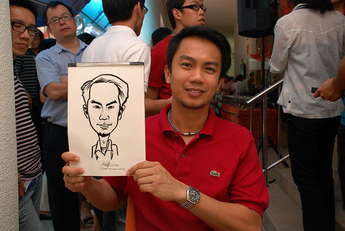 Caricature live sketching for BAT White Christmas Party 2010 - 13