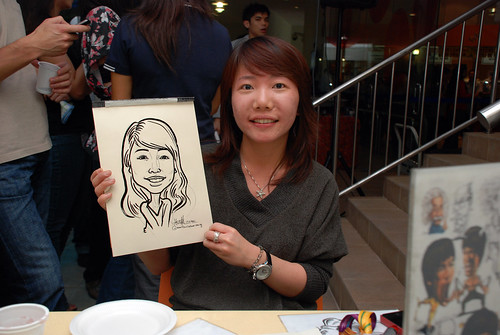 Caricature live sketching for BAT White Christmas Party 2010 - 30