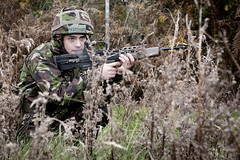 I'm ready. (1Maph) Tags: uk england training soldier force action military air rifle royal excercise combat westmidlands raf dota wolverhampton cosford uncontrolled cs95 la85