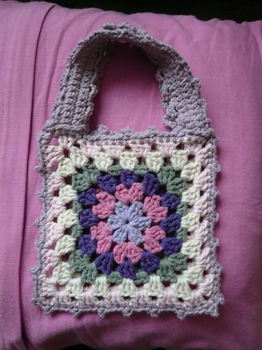Granny Square bag - mauve