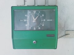 (breakfst) Tags: green clock gasstation bundyclock
