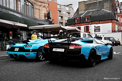 [Explored] Turqoise Brothers. (Melvin Scholten) Tags: road city blue london car one nikon harrods east special exotic arab views middle melvin lamborghini 800 supercar scholten koenigsegg turqoise combo explored d5000 superveloce ccxr lp6704