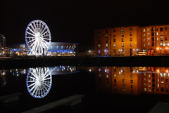 Albert Dock (Jeffpmcdonald) Tags: uk liverpool nightshoot albertdock atlanticpavilion echoarena jeffpmcdonald wheelofliverpool jan2011