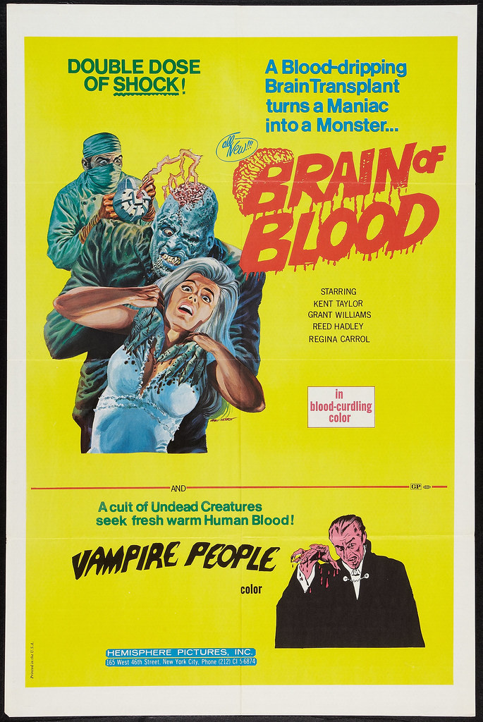 Brain of Blood / Vampire People Combo (Hemisphere Pictures, 1972)