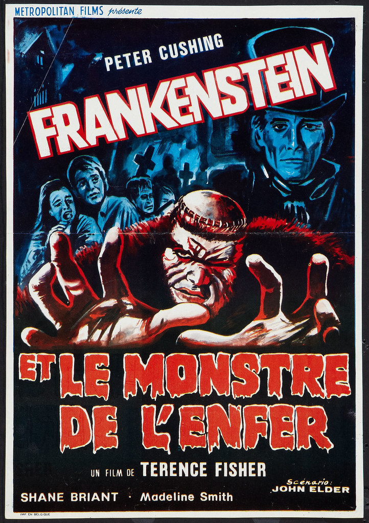 Frankenstein and the Monster from Hell (Paramount, 1974) Belgian Poster