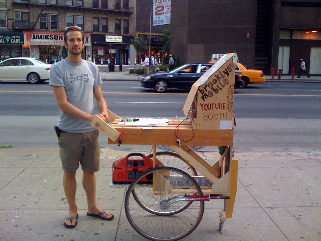Dan and the cart in warmer days.