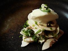 Paris Mushroom Soup: Topped With Creme Fraiche