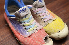 New (old) Volleys (flukes~) Tags: new old 50mm rainbow nikon f14 worn crayon volley dunlop d7000