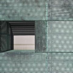 Holl Facade Detail (ken mccown) Tags: holland detail netherlands amsterdam architecture facade modernism copper stevenholl woningbouwvereniginghetoosten