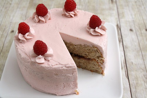 Hazelnut Raspberry Layer Cake