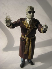 The Invisible Man - Jack Griffin on the Prowl 1509 (Brechtbug) Tags: new york city shadow man film halloween wearing sunglasses monster movie jack toy toys scary bath gun shadows action robe invisible dr cigarette smoking jacket doctor figure horror terror claude monsters universal transparent mad creatures creature figures bandage griffin pajamas slippers rains scientist bandages fright prowl the