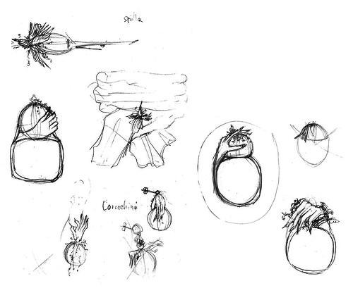 jewellery. mutation. sketches (santagoreva) Tags: inspiration leather pencils silver design hands drawing mani poppies accessories sketches jewel mutation papaveri jewellary kohinoor papamani