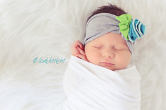 .caitlin. (*miss*leah*) Tags: blue baby white rose fur cozy nikon limegreen gray wrapped naturallight cotton babygirl newborn headband swaddled foldedhands d700 leahhoskins professionalnewbornphotography