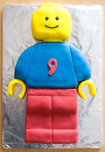 Lego man cake 1