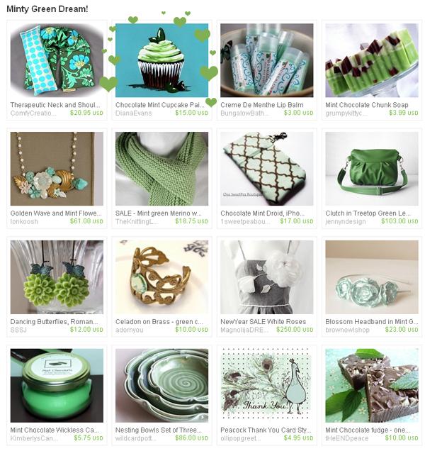 Minty green Treasury