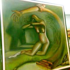 Lla violenza alle donne di vincenzo greco (vincenzogreco) Tags: arte di mano venezia ritratti moderna vincenzo greco dipinti binnale capezzali vetrofusione