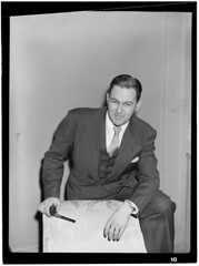 [Portrait of Irving Kolodin, New York, N.Y., between 1946 and 1948] (LOC) (The Library of Congress) Tags: man pipe smoking suit 1940s libraryofcongress smoker forties 40s pipesmoker xmlns:dc=httppurlorgdcelements11 dc:identifier=httphdllocgovlocmusicgottlieb13291