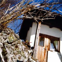 lubitel36 (pxl77) Tags: winter snow alps 6x6 tlr nature analog forest square austria village kodak squareformat medium 160vc tyrol ischgl lubitel166u 120mm at mounteins
