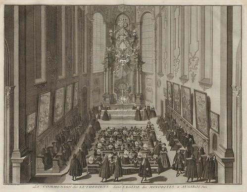 La Communion des Lutheriens dans l'Eglise des Minorites a Augsbourg (V. 3)