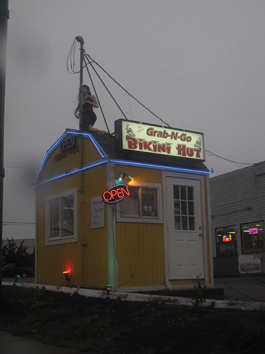 Grab-N-Go Bikini Hut. Coffee to go...from a very degrading job position!