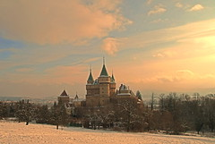Bojnice Castle Golden Sky, Slovakia (johan.pipet) Tags: winter sky snow castle colors canon gold golden europe slovakia tamron palo tone hdr hrad bartos bojnice prievidza bojnick zmok flickraward platinumheartaward barto