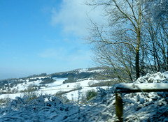 winter white (nannyjean35) Tags: ice clouds countryside skies hill twigs cloaked