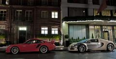 Veyron, GT2 RS, Claridges, Jan '11 (Luke Alexander Gilbertson) Tags: london nikon porsche londres rs londra rare f28 gt2 163 supercars veyron 2470 centennaire hypercar 1001ps 1001hp d700 porschegt2rsbugatti 80w12