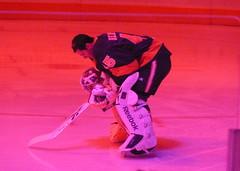 LA Kings Goalie Bernier (roopez123) Tags: california ice hockey losangeles los goalie angeles kings bow skate rink pensive contemplate staplescenter nationalanthem bernier jonathanbernier