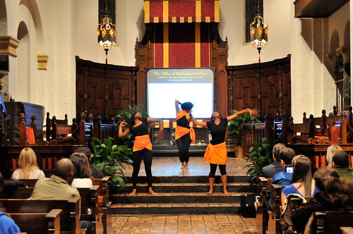 Rollins students and Rollins Upward Bound youth perform a commemorative dance titled,