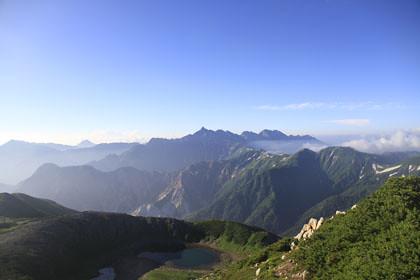 鷲羽岳から見た槍ヶ岳