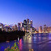 Brisbane City Skyline during Blue Hour