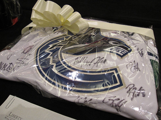 Canucks jersey for auction