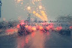 {5/15} يـا زيـن جــوّ الـدوحــة .. مـطــر وبـرااد (- M7D . S h R a T y) Tags: winter cold color london colors rain drops bokeh drop doha 515 wordsbyme valentinesdayproject allrightsreserved™