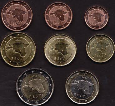 Sada 8 Euro mincí Estónsko 2011