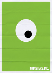 Monsters, Inc. (Franco Mathson) Tags: mike movie poster filme minimalism cartaz monstros minimalista