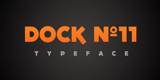 DOCK11 - typeface