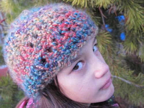 Fuzzy Rainbow Hat #1