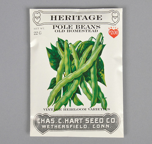 Hart's Heritage Pole Bean Seeds