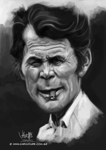 digital caricature of Jack Palance - 2