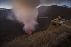 The Fire Within: Into The Bromo Crater (Mohamad Zaidi Photography) Tags: autumn cold wind landscape nature mohamadzaidiphotography mohamadzaididotcom malaysianphotographer yellow green blue white clouds singleexposure sonya7r sonymalaysia sonyjapan sony mirrorless laowa15mm laowa handheld ridge view wide ultrawide bukit indonesia indonesiamustdo nopeople wallpaper outdoor lava eruption caldera mountbromo bromoeruption bromocrater field sky