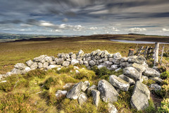 Darden Pike (ca2cal) Tags: england northumberland simonside darden pike lough dardenpike dardenlough cheviot national park northumberlandnationalpark rural sky skyscape cloud landscape water waterscape hdr website project366 rock motionblur cairn 6stop