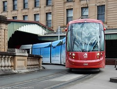 Sydney Light Rail - LRV 2123 departs Central (john cowper) Tags: sydneylightrail lrv2123 centralrailwaystation railwaycolonnade urbos3 dulwichhill transportfornsw sydneypublictransport sydney newsouthwales