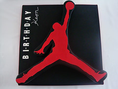 Air Jordan Cake (Love & Sugar Bakeshop) Tags: red cake logo jumpman airjordan keon