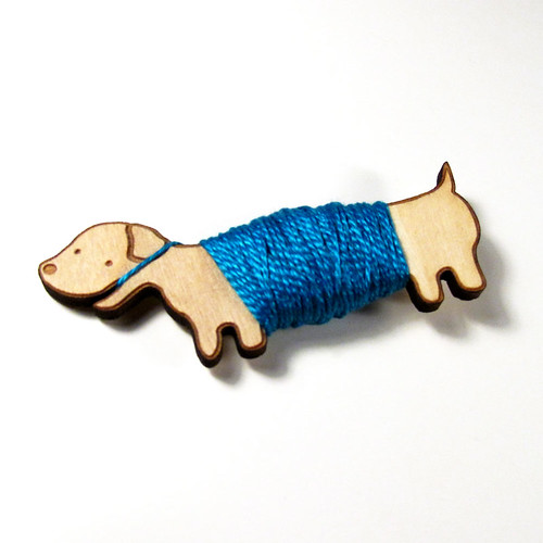 Flossy the Dachshund Embroidery Floss Bobbin 5