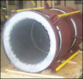 "44"" Universal Expansion Joint with Refractory-lining  and Two-ply Bellows"