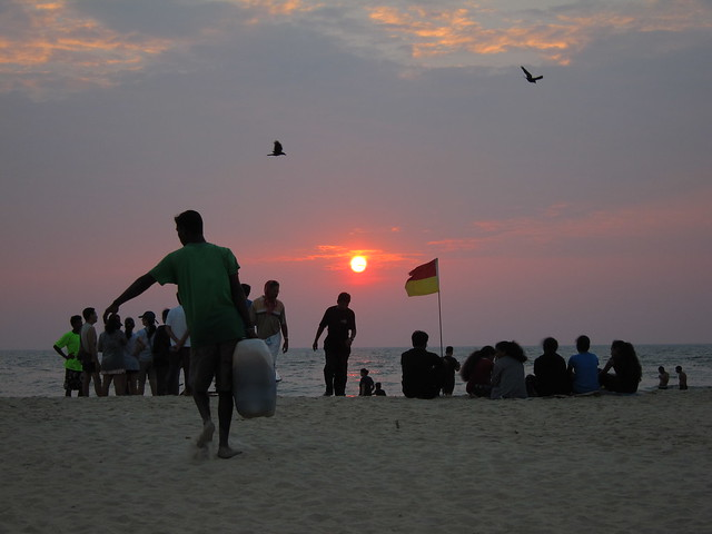 Benaulim beach at dusk