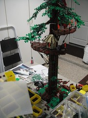 Ewok tree  in progress (brickplumber) Tags: starwars endor starwarslego fbtb